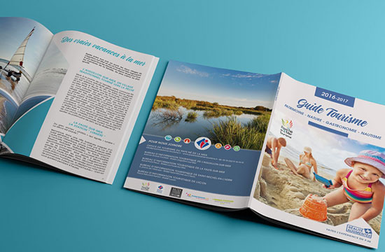 brochure dépliant catalogue marceline communication les sables d'olonne