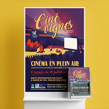 affiche cinevignes sancerre marceline communication